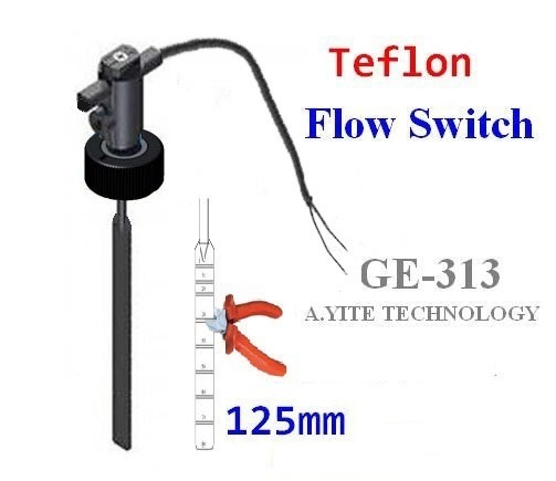 GE-313 PTFE Teflon Paddle Flow Switches