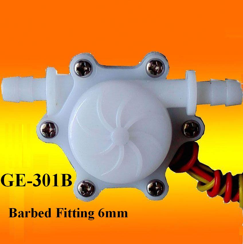 GE-301B Water Flow Sensor with Barbed Fitting