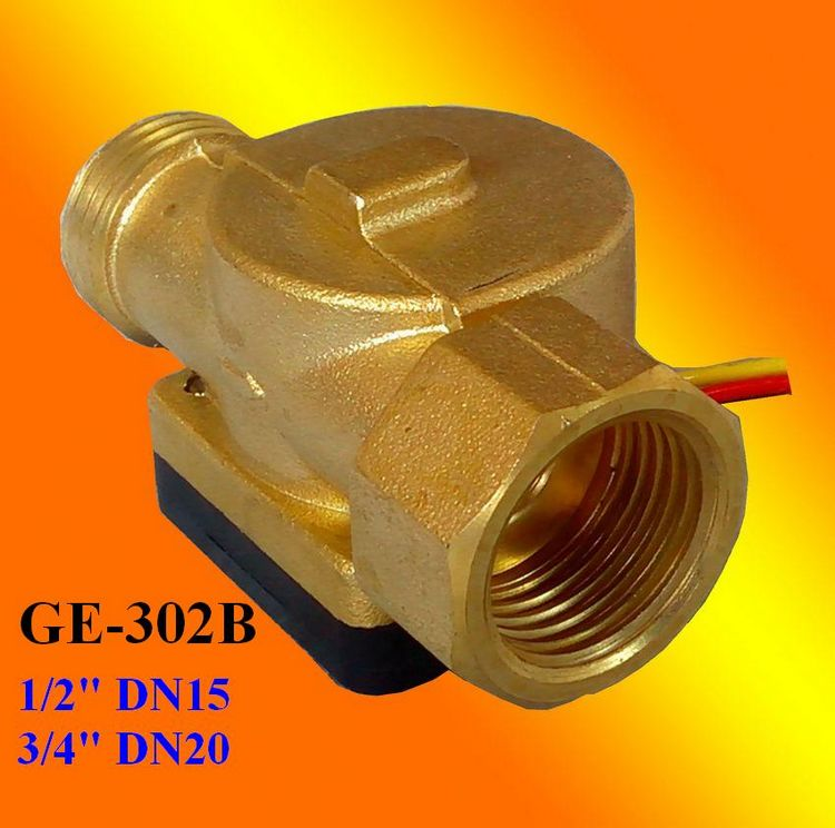 GE-302B Brass Water Flow Sensor BSP1/2