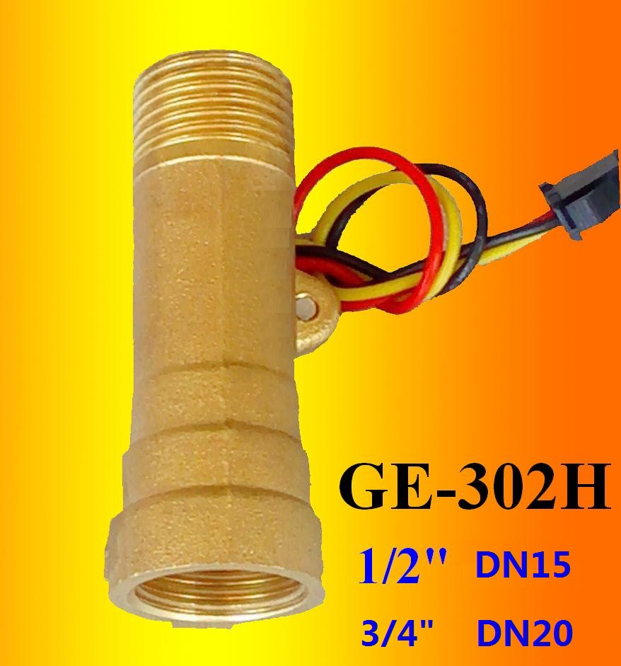GE-302H Brass Water Flow Sensor BSP1/2